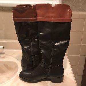 Rampage Black/Cognac Boots New Sz 7.5
